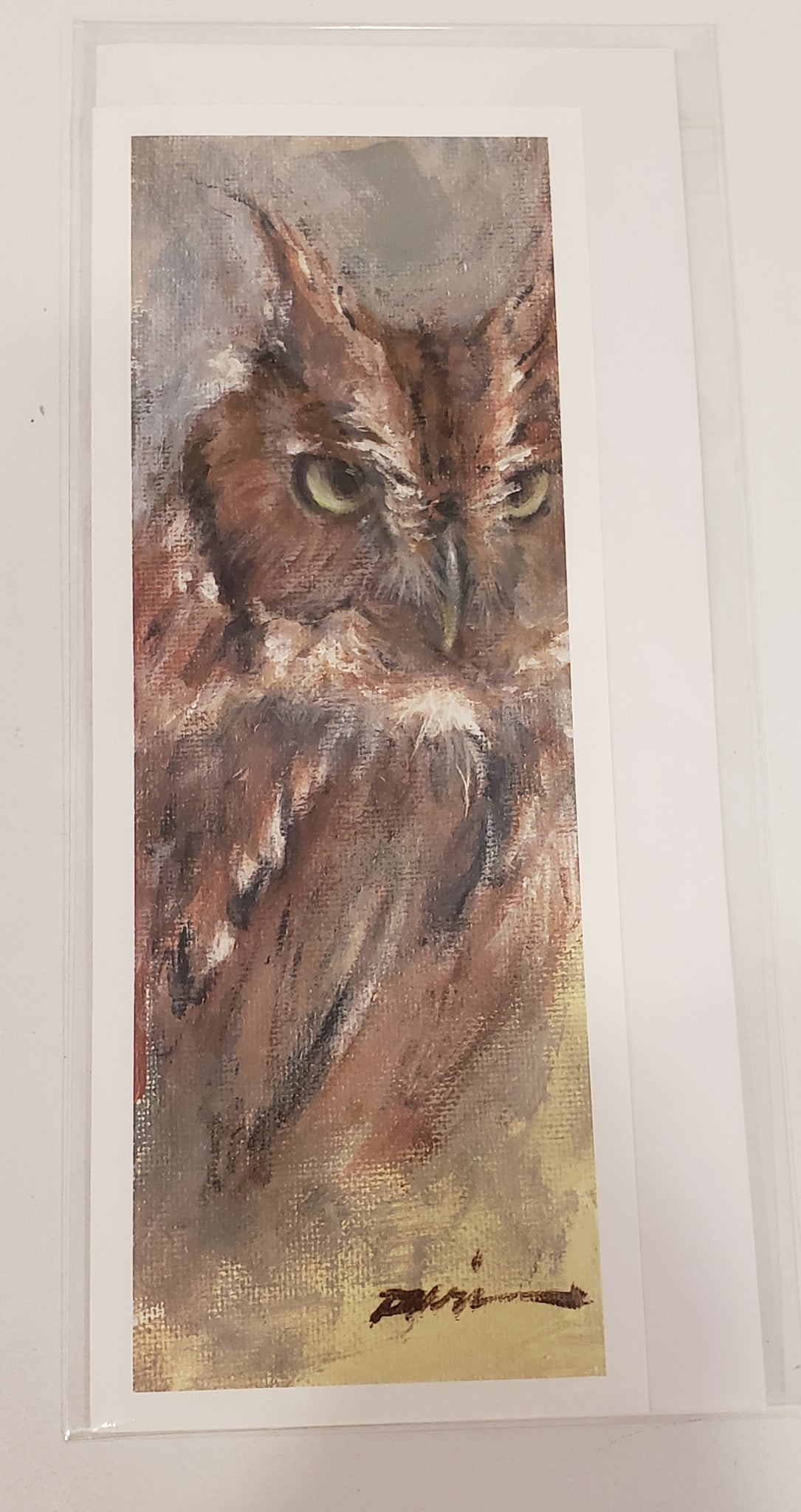 """Screech Owl"" Card - 318 Art and Garden"