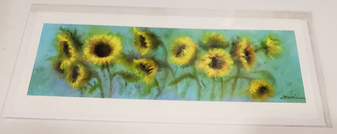 """Sunflower Trail on Old Dixie Road"" Card - 318 Art and Garden"