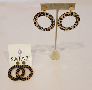 Leopard Acetate Hoop Earrings - 318 Art and Garden