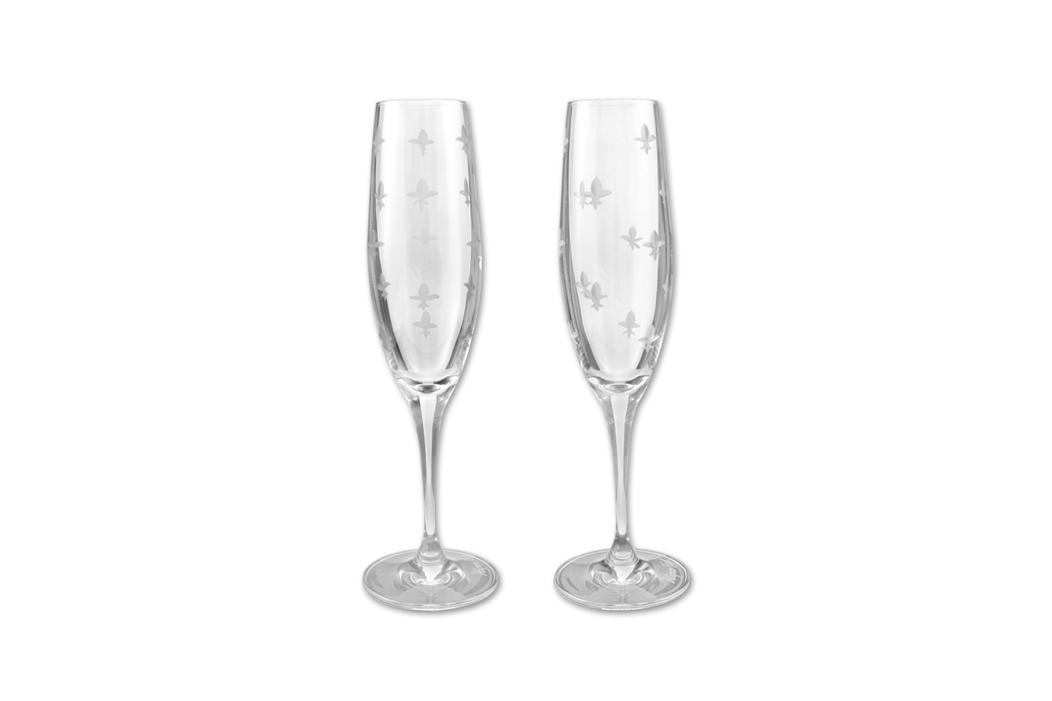 Crystal Champagne Flute/Pair - 318 Art and Garden