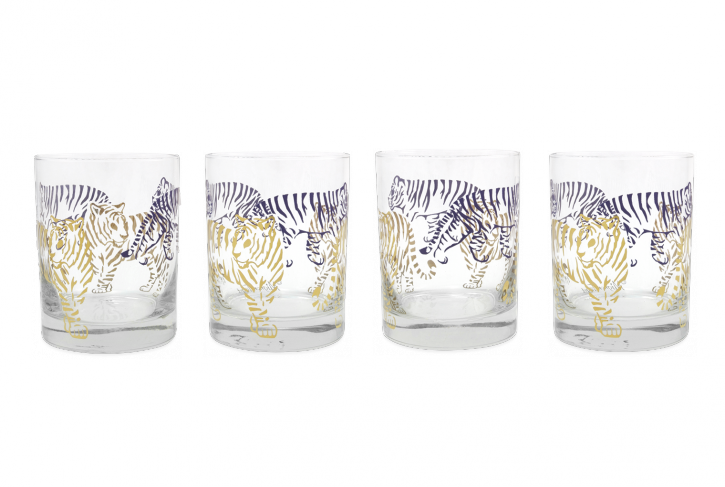 Purple and Gold Tiger Glass - 318 Art and Garden