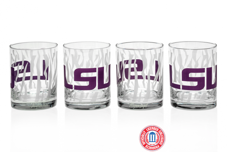 LSU Stripes Glass - 318 Art and Garden