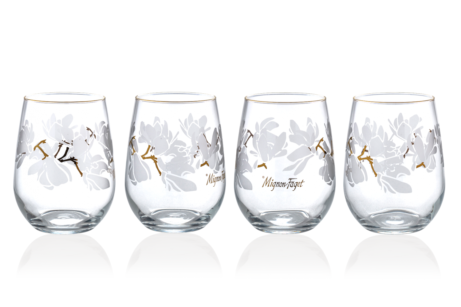 Magnolia Stemless Glass - 318 Art and Garden