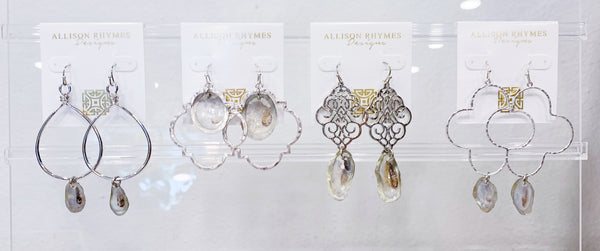 Oyster Statement Earrings - 318 Art and Garden