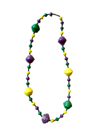 Big Bead Mardi Gras Necklace - 318 Art and Garden