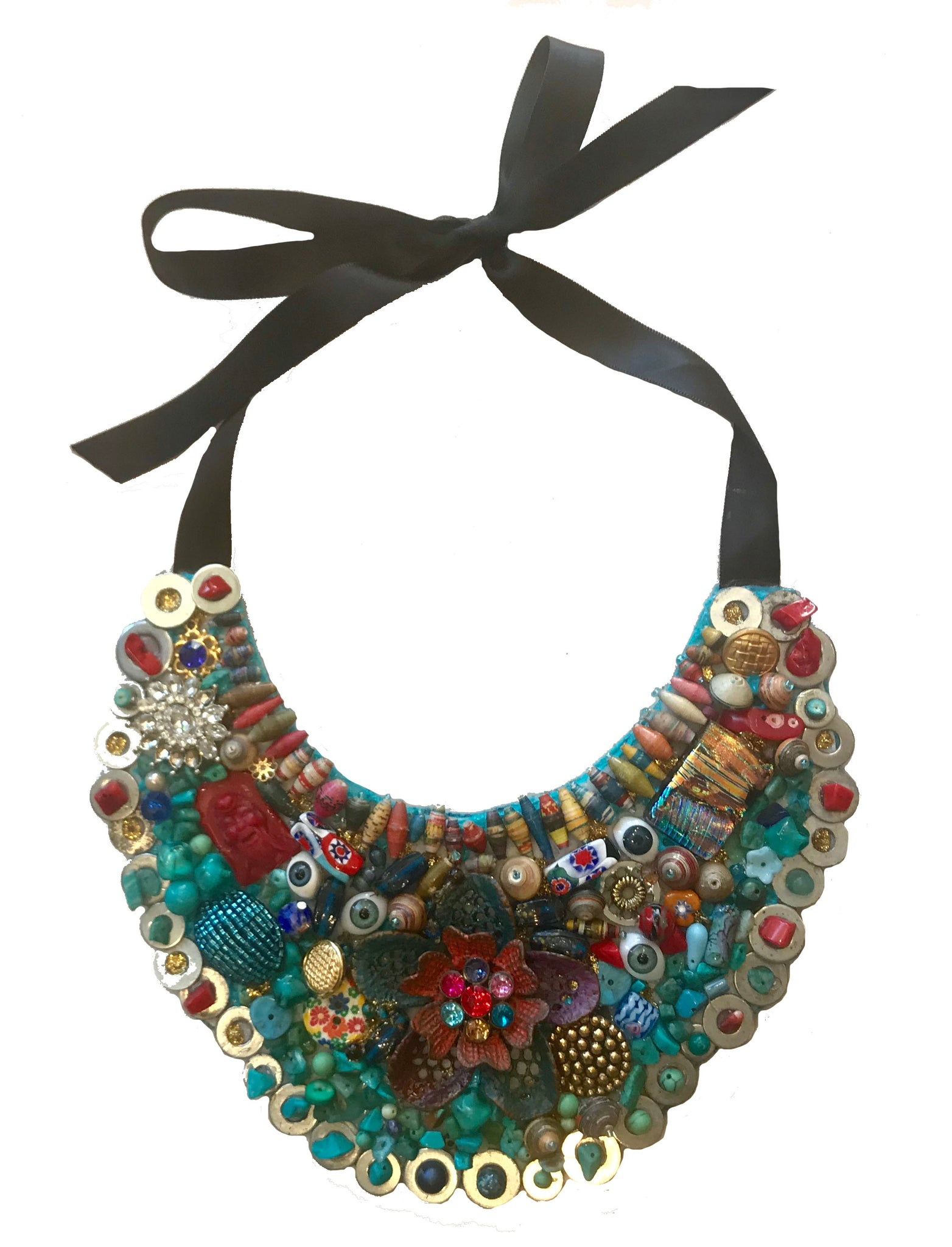 Multi Colorful Necklace - 318 Art and Garden
