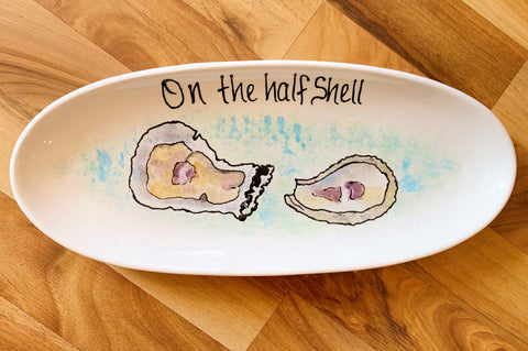 On the Half Shell Small French Bread Platter - 318 Art and Garden