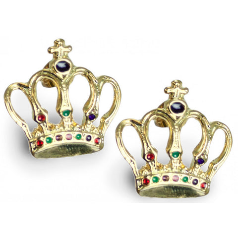 Mardi Gras Crown Earrings