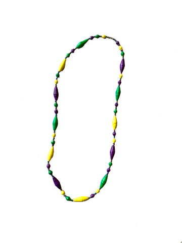 Cone Bead Mardi Gras Necklace - 318 Art and Garden