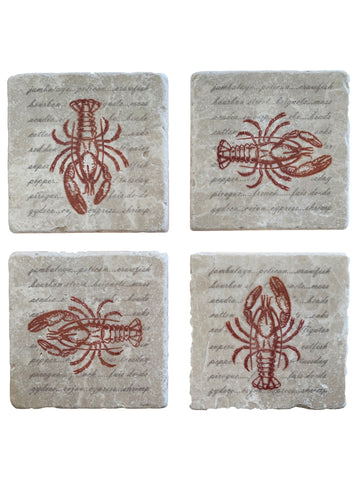 Crawfish Coaster Set