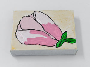5X7 Pink Magnolia Painting - 318 Art and Garden