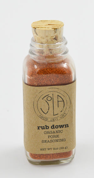 SOLA- rub down Organic Pork Seasoning