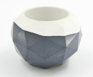 Concrete Medium Geometric Bowl - 318 Art and Garden