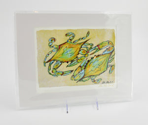 Ellen McCord Arts Prints-11x14 Matted-Blue Crab