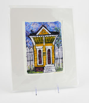 Prints-11x14 Matted Shotgun House