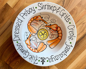 Small Shrimp with Sayings Bowl - 318 Art and Garden