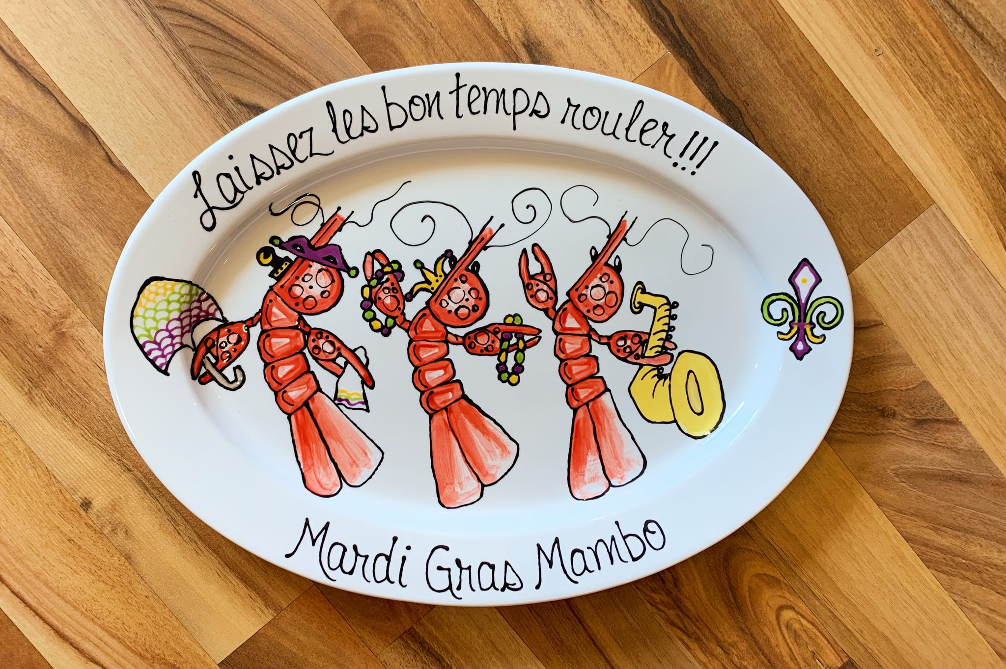 Laissez Les Bon Temps Rouler Oval Platter - 318 Art and Garden
