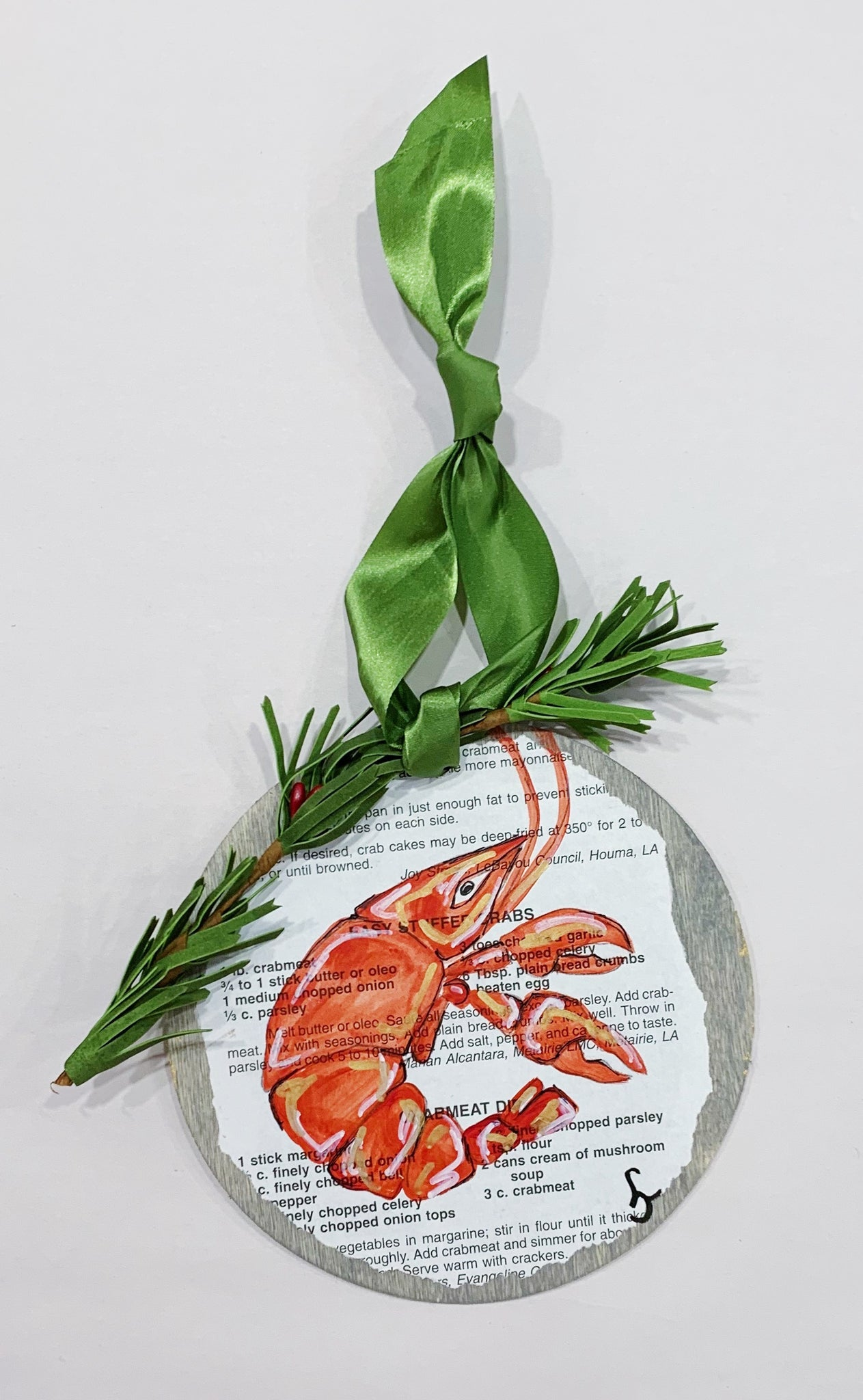 Crawfish Recipe Book Ornament - 318 Art and Garden