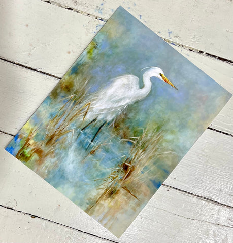 """Great White Egret"" Giclee Print by Carla Davis"