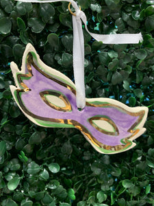 Mardi Gras Mask Ornament - 318 Art and Garden