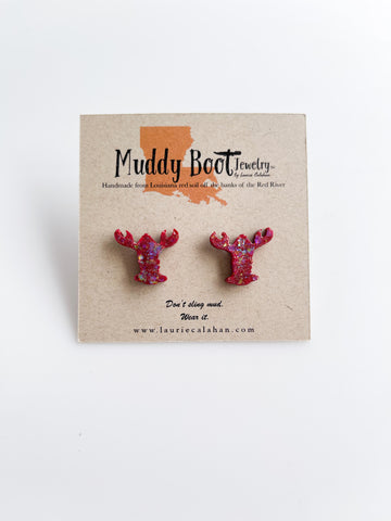 Crawfish Mud Stud Earrings