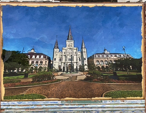 """St. Louis Cathedral"" Fine Art by Julien"