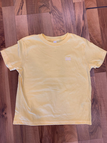 Embroidered Streetcar Tee in Yellow - 318 Art and Garden