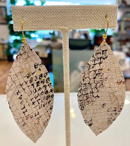 Statement Leather Earrings - 318 Art and Garden