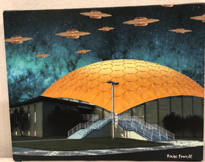 """Gold Dome Motorship"" 5X7 Card"