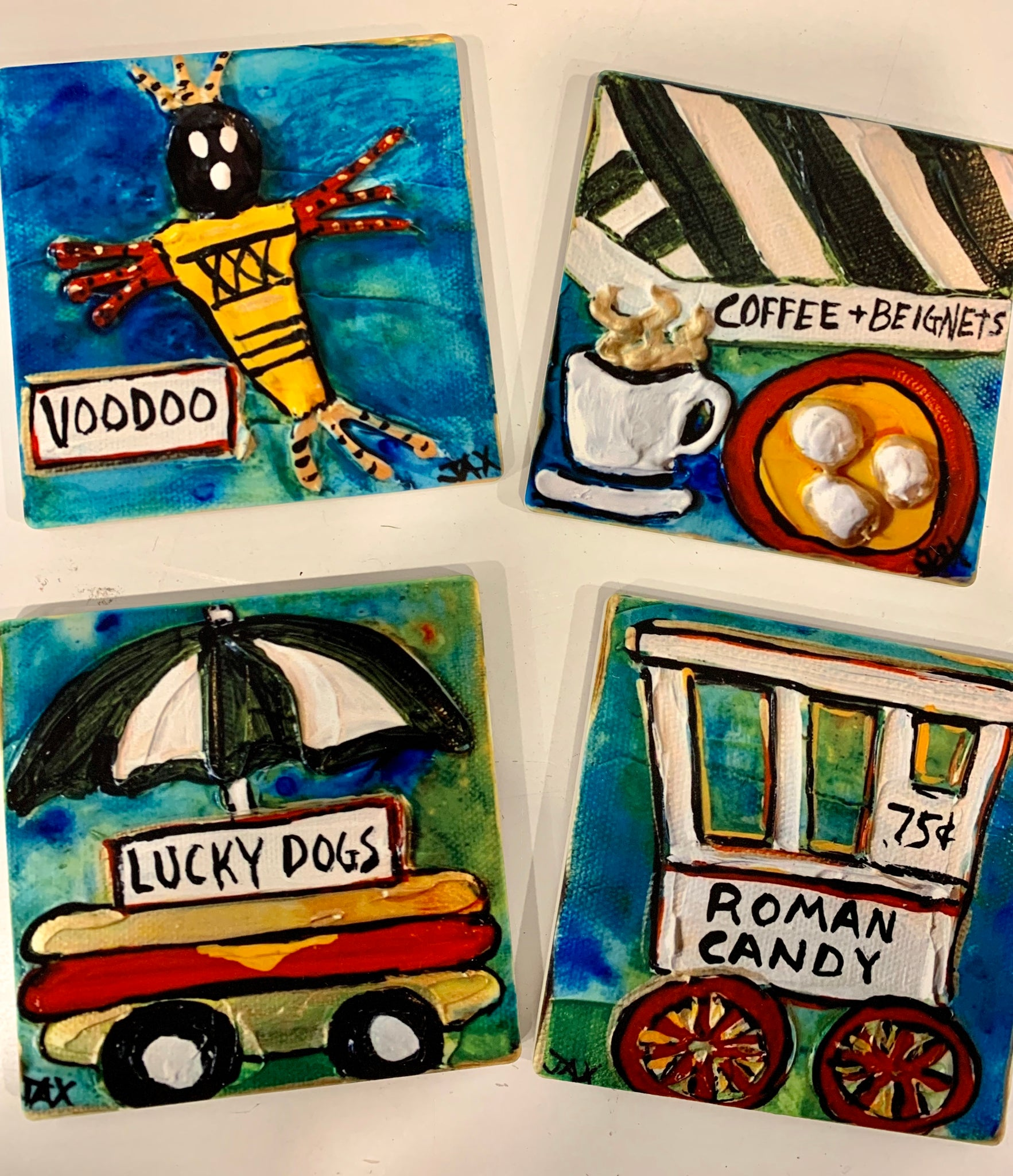 Tile Coaster Set - 318 Art and Garden
