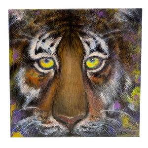 """Purrple & Geauxld = Tiger"" Giclee Print - 318 Art and Garden"