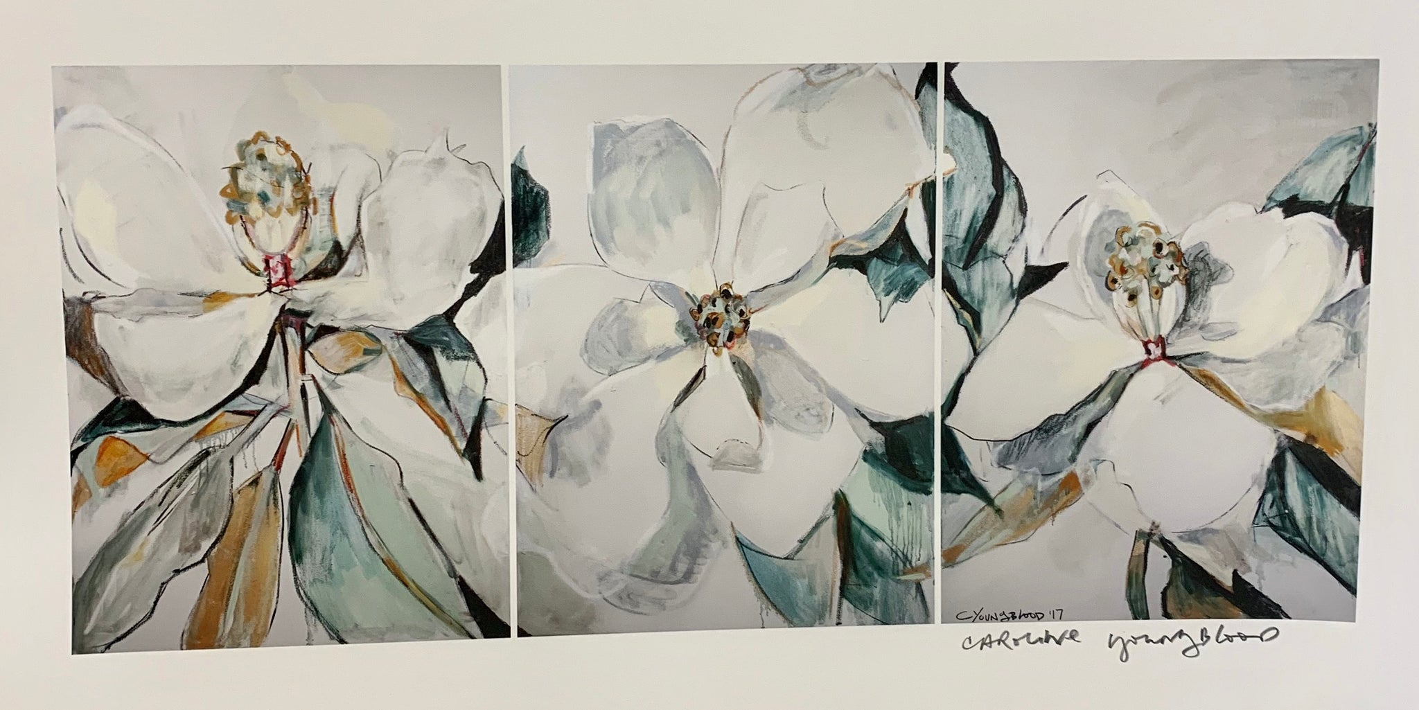 """Triple Magnolia"" Print - 318 Art and Garden"