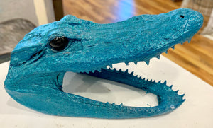 Taxidermy Alligator Head - 318 Art and Garden