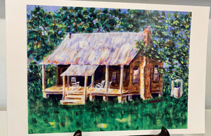 """The Cabin"" 12X18 Print - 318 Art and Garden"