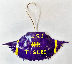 LSU Football Crab Ornament - 318 Art and Garden