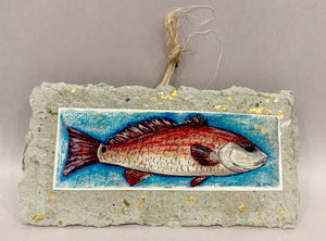 Big Red Fish Ornament - 318 Art and Garden