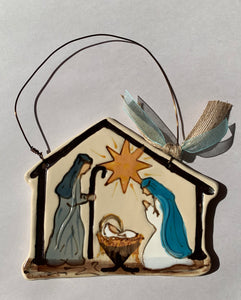 Painted Nativity Ornament - 318 Art and Garden