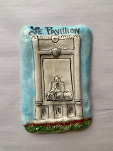 Le Pavillion Ceramic Plaque - 318 Art and Garden