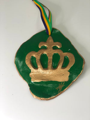 Mardi Gras Crown Intaglio Ornaments