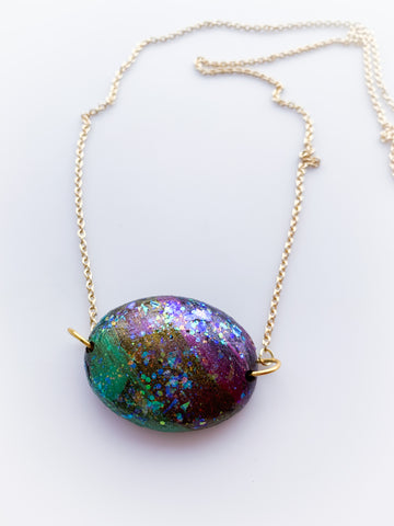 Oval Mud Necklace