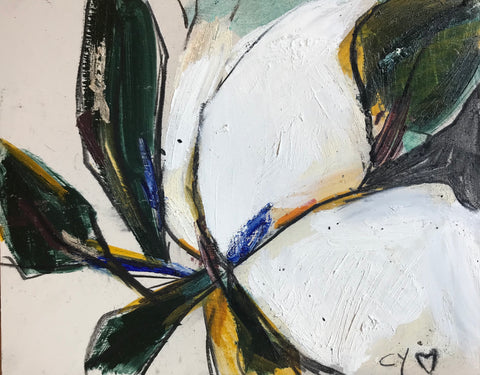 """La Magnolia on Wood"" - 318 Art and Garden"