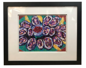 """The World is Your Oyster"" 18x22 Framed - 318 Art and Garden"