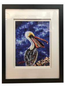 """Pelican Brief"" 18x22 Framed Print - 318 Art and Garden"