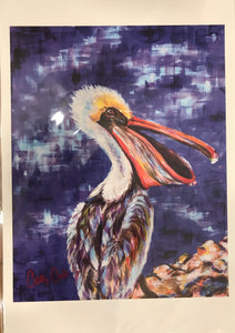 """Pelican Brief"" 12X18 Print - 318 Art and Garden"