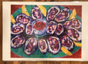 """The World is Your Oyster Platter"" 12X18 Print - 318 Art and Garden"
