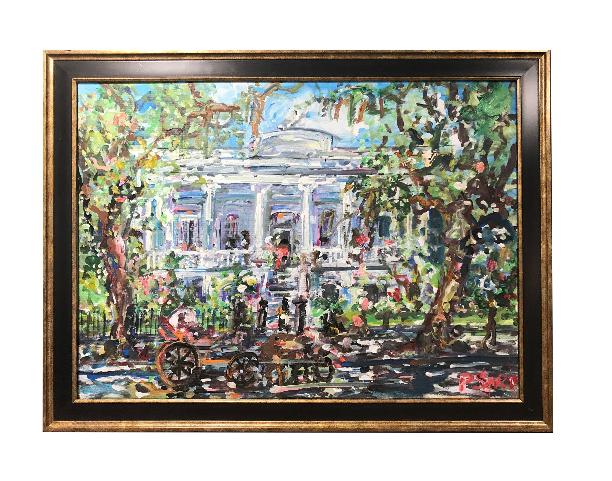 """Garden District"" 20X24 Framed - 318 Art and Garden"