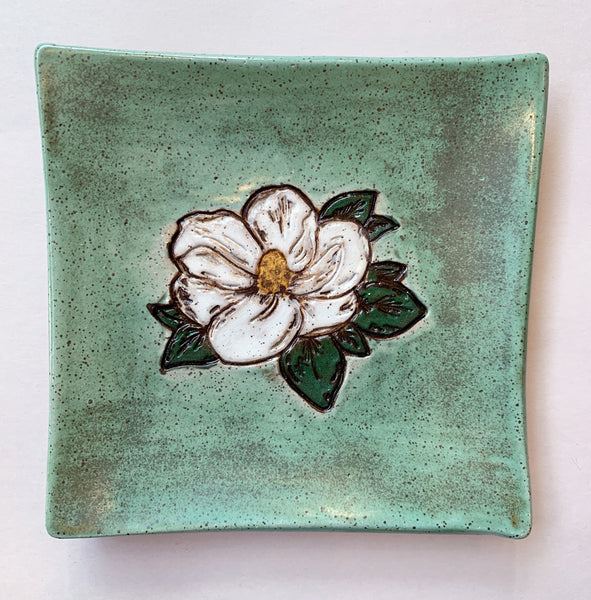 Square Magnolia Dish - 318 Art and Garden