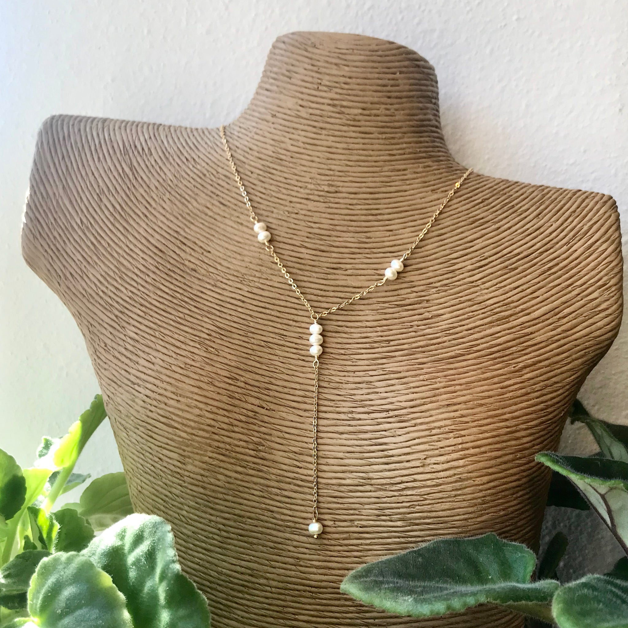 Dainty Pearl Drop Necklace - 318 Art and Garden