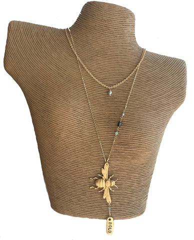 Bee Bold Dainty Necklace - 318 Art and Garden