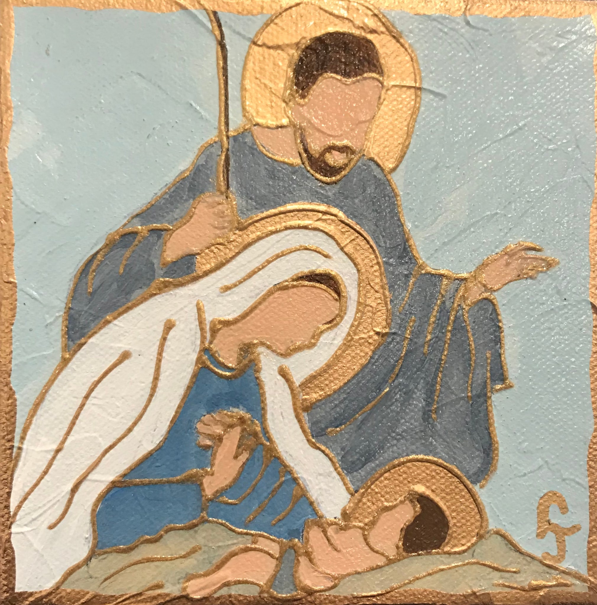 5X5 Nativity Icon Painting - 318 Art and Garden